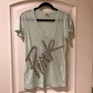 Pink Victoria's Secret V-neck t-shirt size M